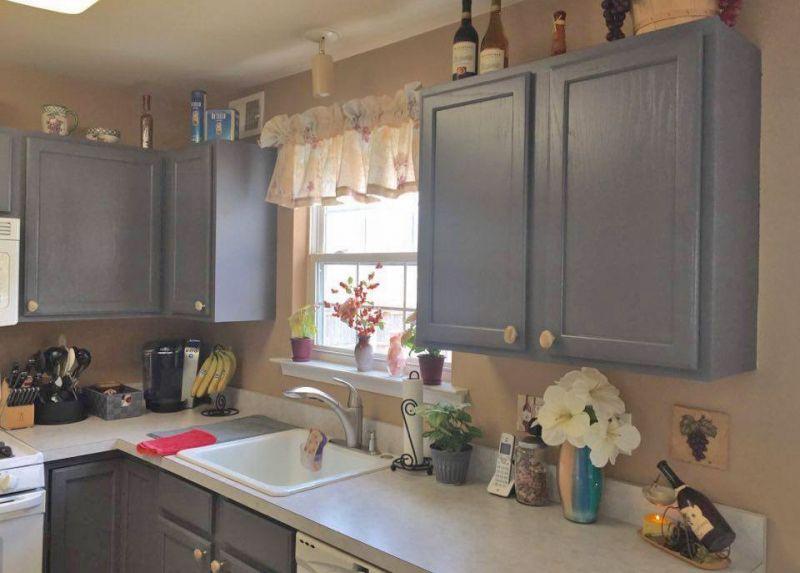 Kitchen In Driftwood Milk Paint Finish Kitchen Cabinets Kitchen Remodel Inspiration Kitchen Cabinets