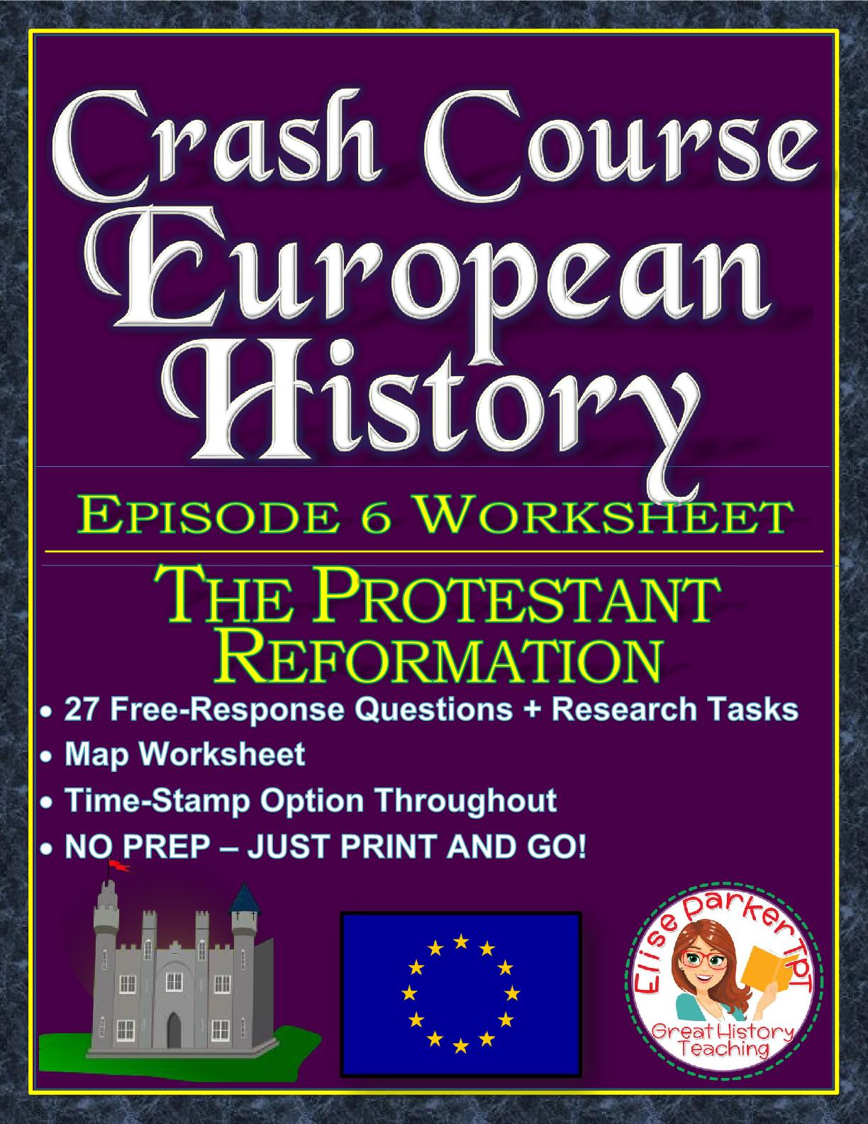 Crash Course European History Episode 6 Worksheet