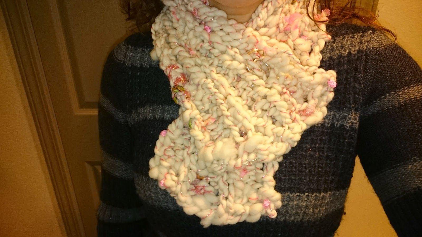 free simple bulky scarf