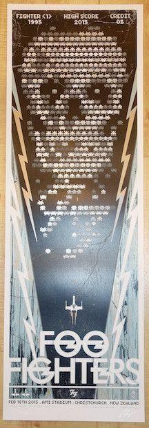 2015 Foo Fighters - Christchurch Silkscreen Concert Poster ...