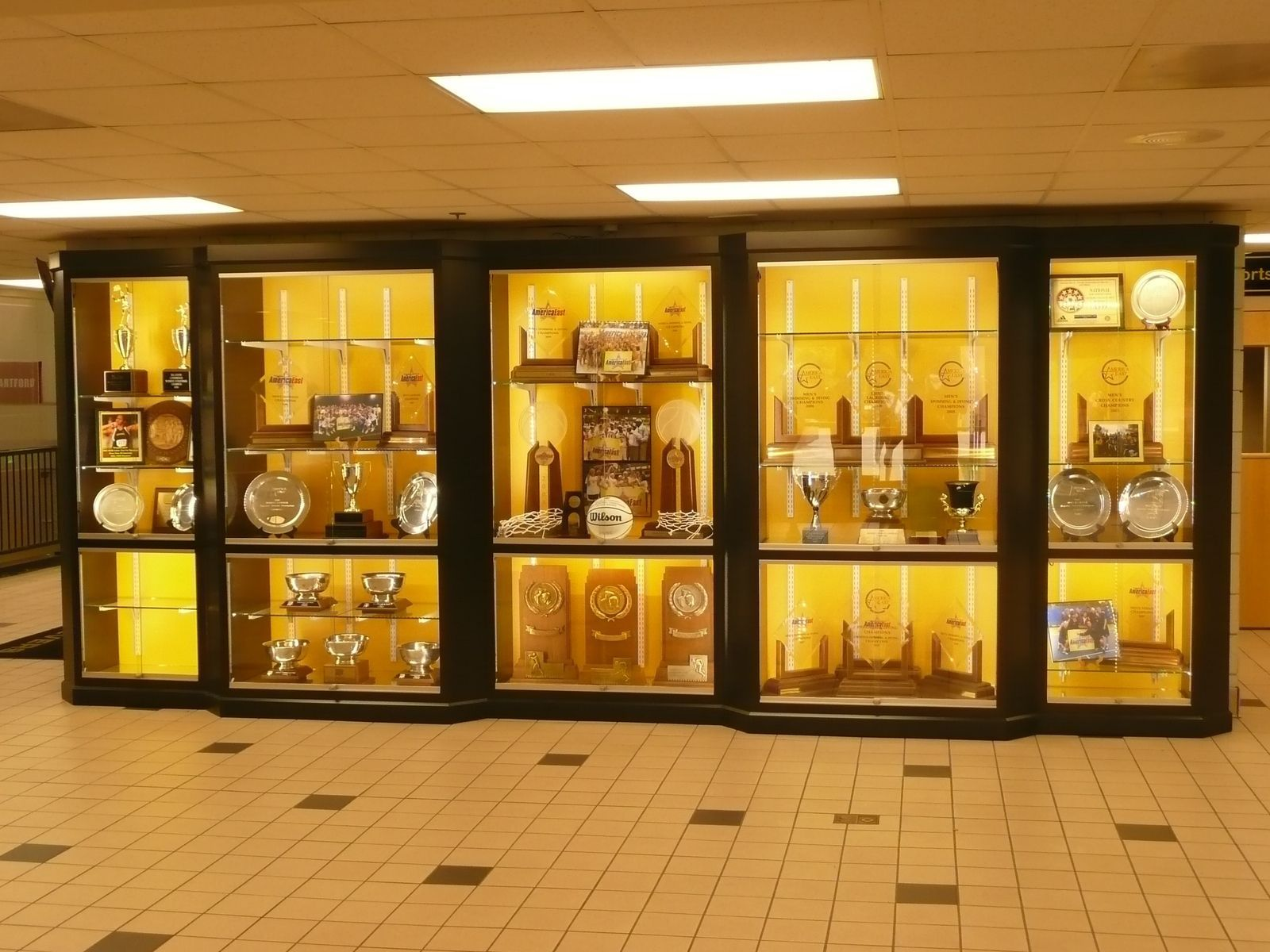Custom Made Umbc Trophy Case Trophy Display Trophy