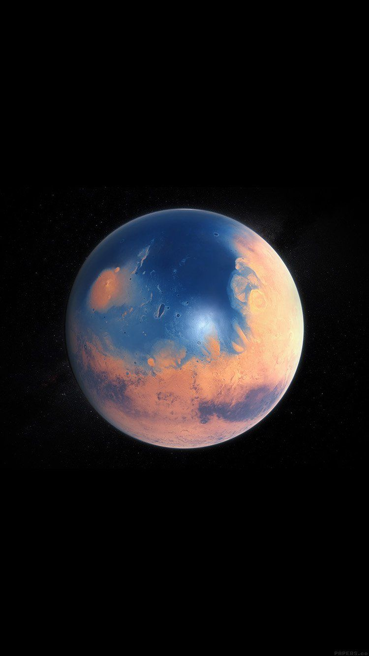 Iphone Wallpaper Planets Art Water On Mars Planets