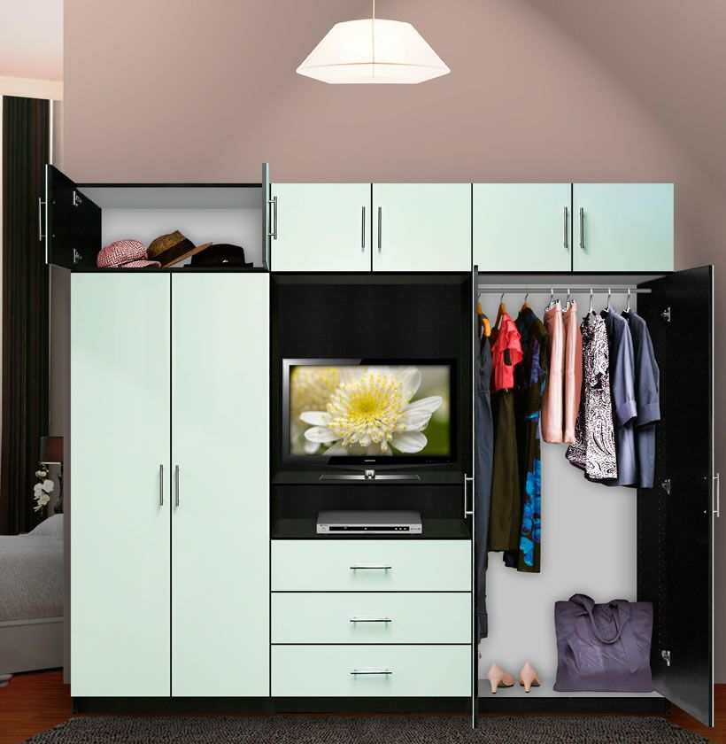 Aventa Bedroom Wall Unit X Tall   TV Wall Unit W Extra Bedroom Storage |  Contempo Space