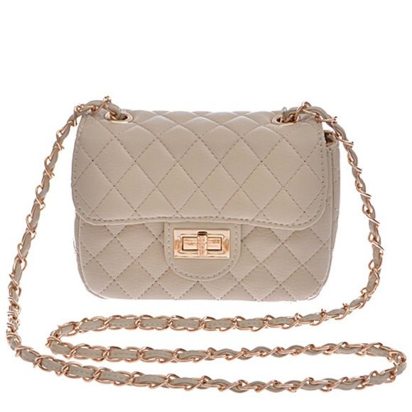 Nude Mini Quilted Purse Brand: Hello 3 AM