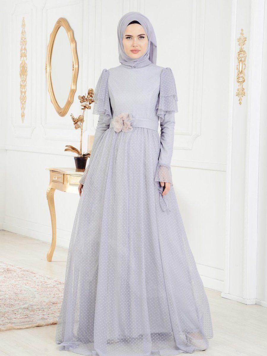 96d812a2eaba3 Sefamerve Tesettür Puantiyeli Abiye Modelleri | Tesettür | Elbise ...