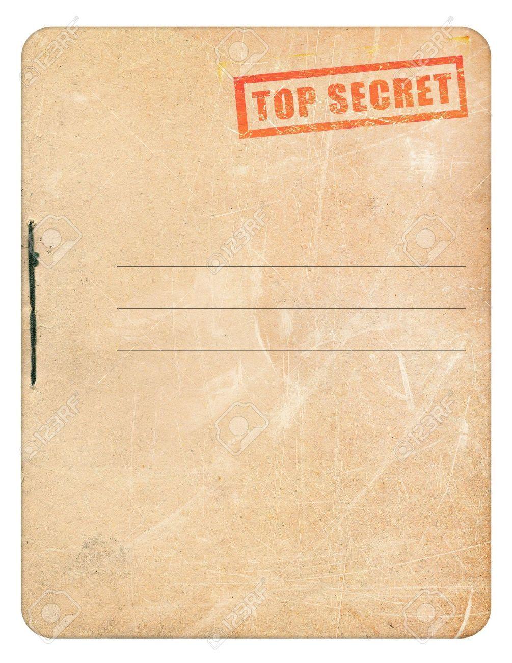 Top Secret Folder Template Free Download Folder Templates Paper City Printable Templates