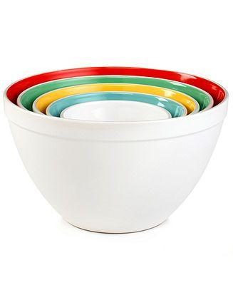 Martha Stewart Collection Mixing Bowls, Set Of 5 Ceramic   Kitchen Gadgets    Kitchen