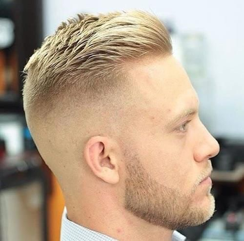High And Tight Comb Over Crew Cut Fade Haircut Handsome Man