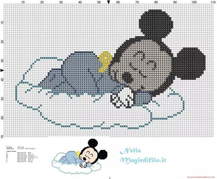 Mickey   bebes   Pinterest   Patrones de puntos, Patrones y Puntos