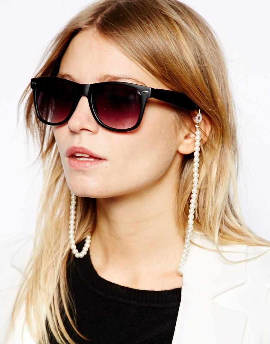 132e2997e22 ASOS Pearl And Rope Sunglasses Chain
