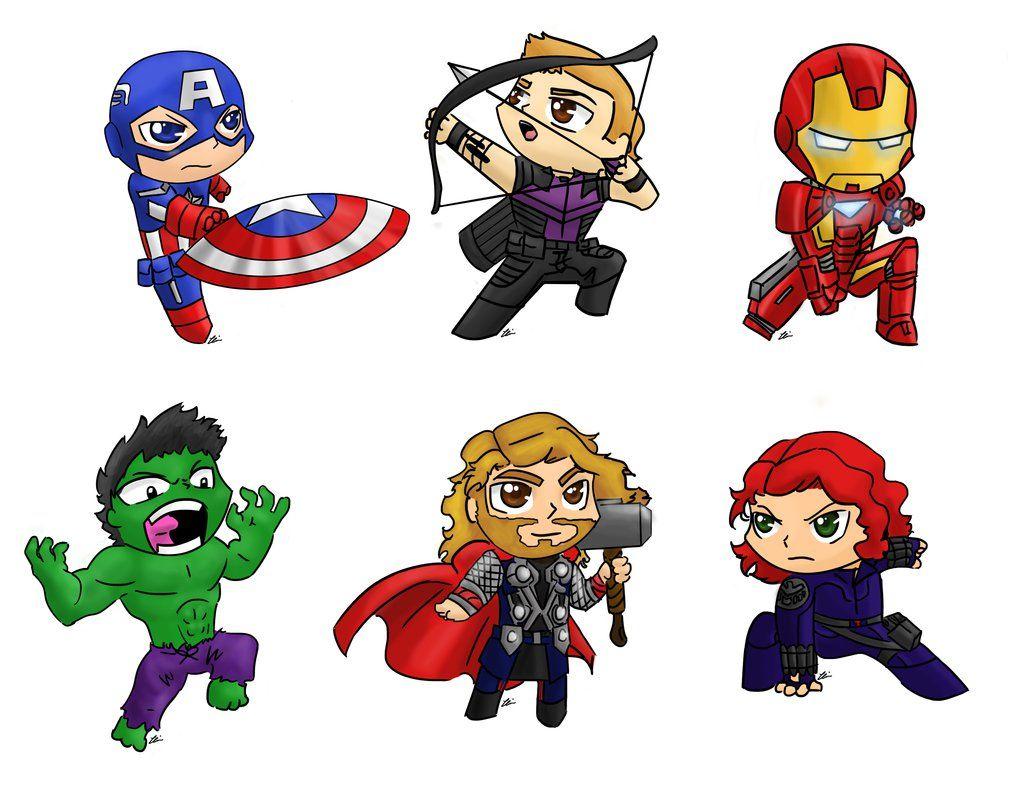 Super Y Cartoon Characters : Avengers cartoon characters cute pinterest