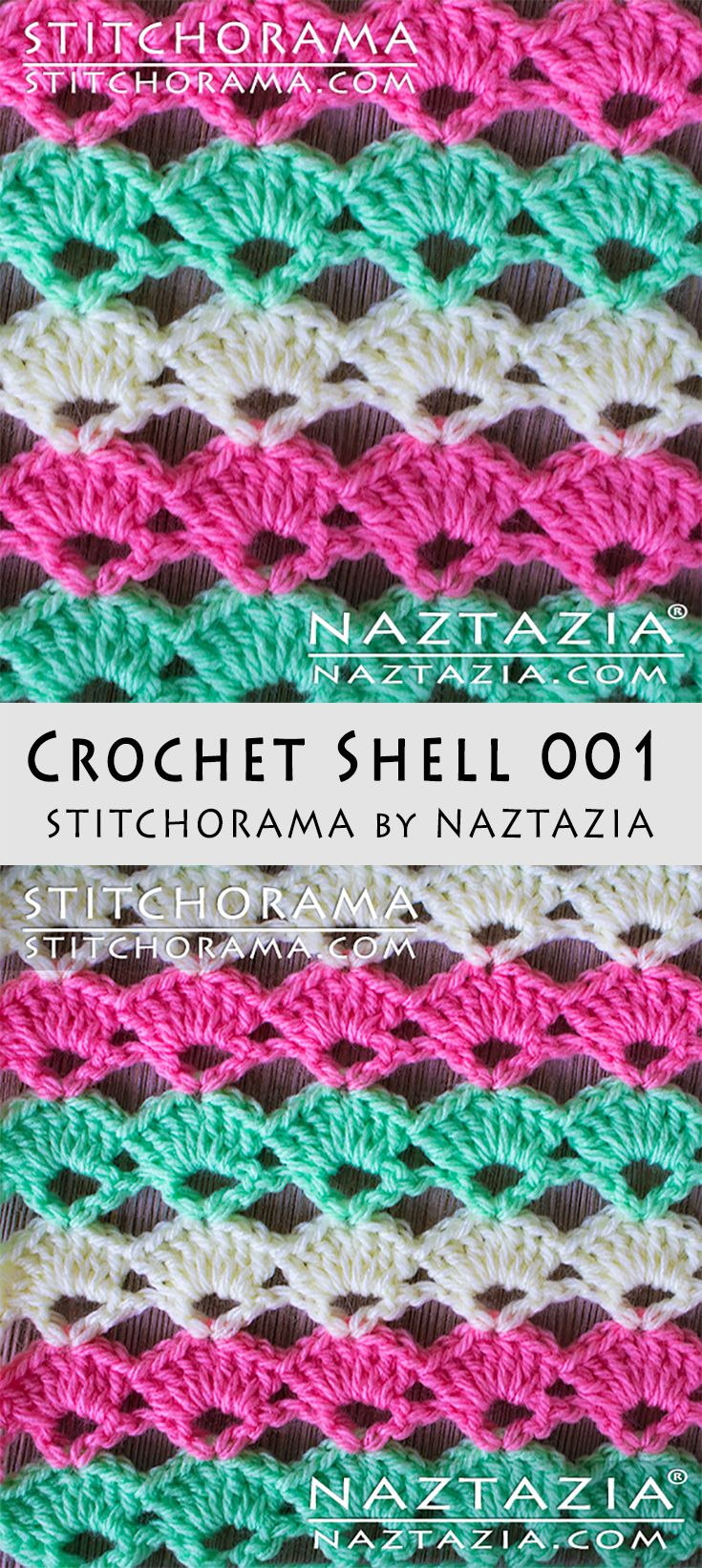 Crochet Shell 001 - Stitchorama by Naztazia | CROCHET STITCHES ...