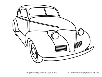 Coloring Page Old Car6 Cars Coloring Pages Coloring Books Vintage Truck