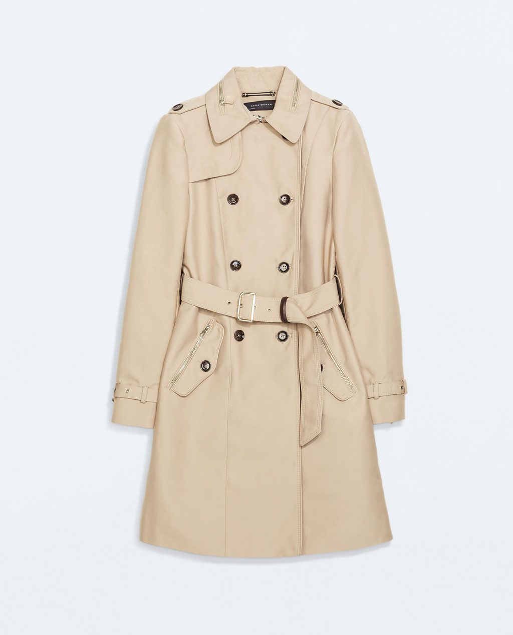 Image 5 of DOUBLE BREASTED TRENCH COAT from Zara