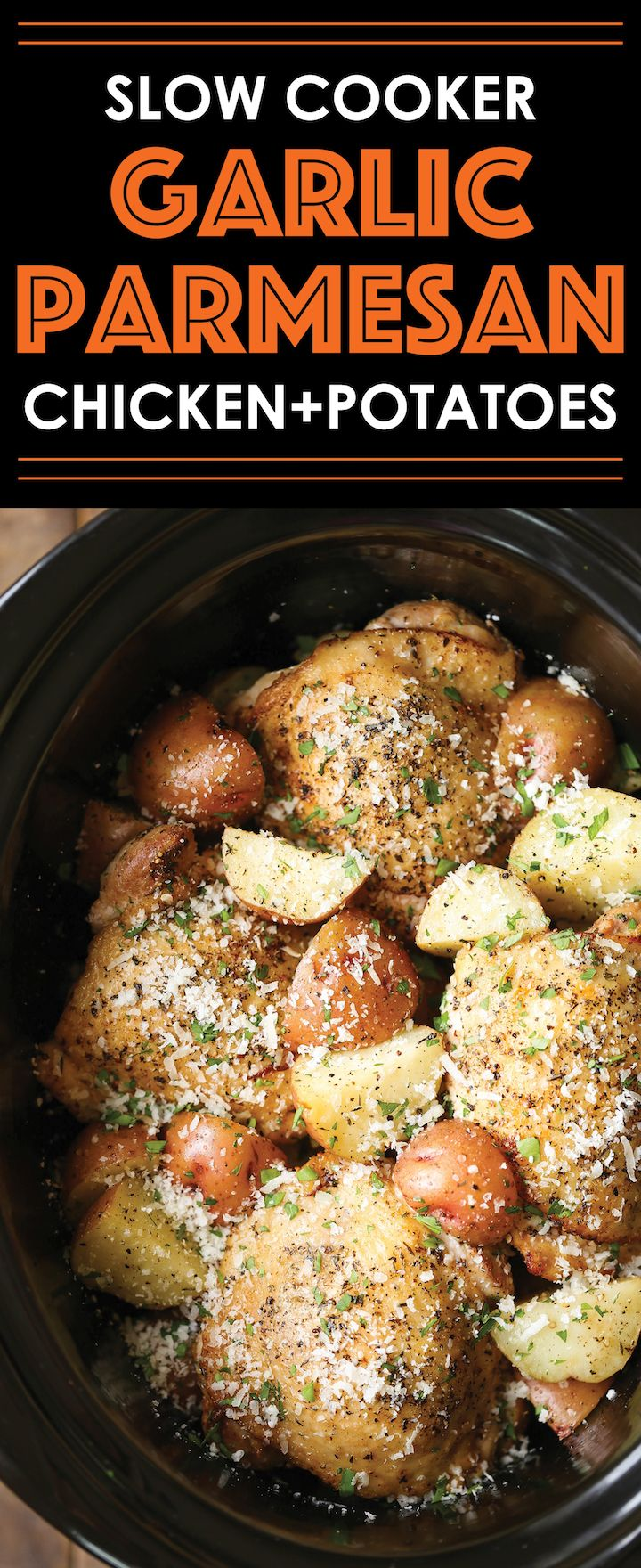Slow cooker garlic parmesan chicken and potatoes recipe garlic slow cooker garlic parmesan chicken and potatoes forumfinder Choice Image