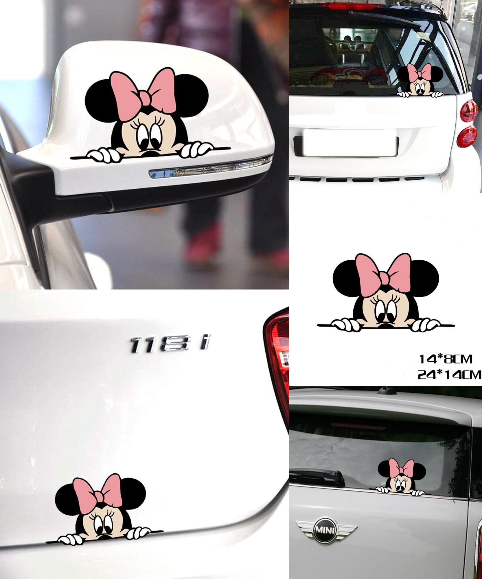 Visit To Buy Funny Car Sticker Cute Mickey Minnie Mouse Peeping Cover Scratches Cartoon Rearview Mirror Decal For Motorcy Car Stickers Funny Minnie Car Humor [ 1998 x 1666 Pixel ]