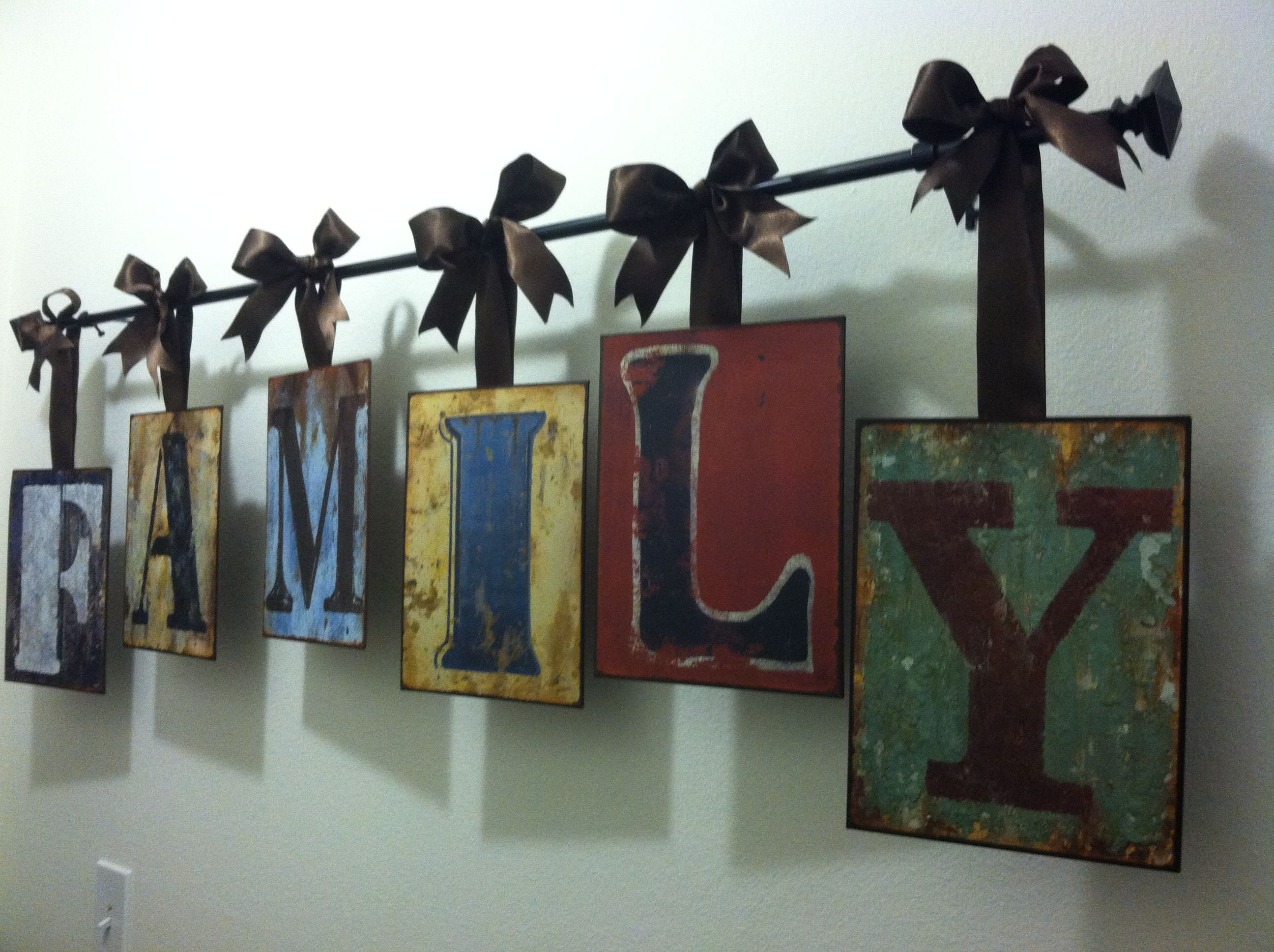 Hallway Decor Metal Letters From Hobby Lobby Wired