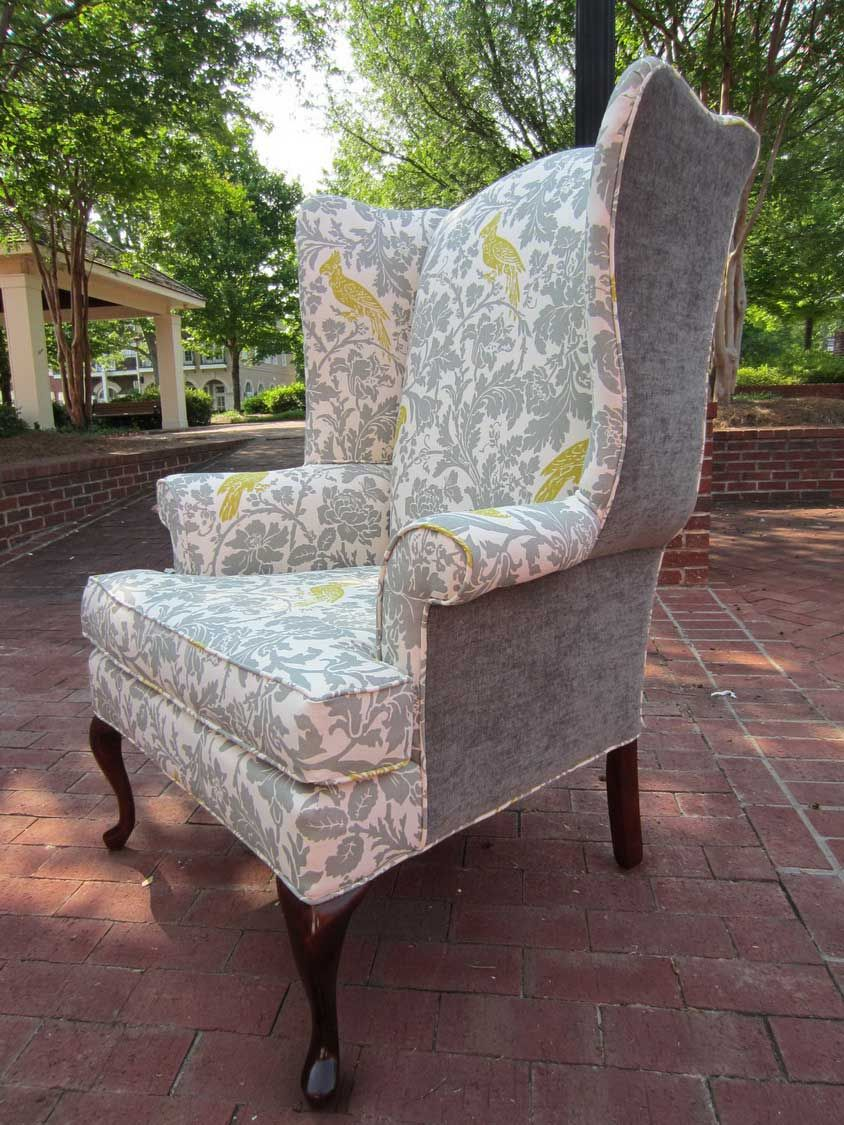 Upholstery Fabric For Vintage Wingback Chair : Great Upholstery Fabric For  Wingback Chair