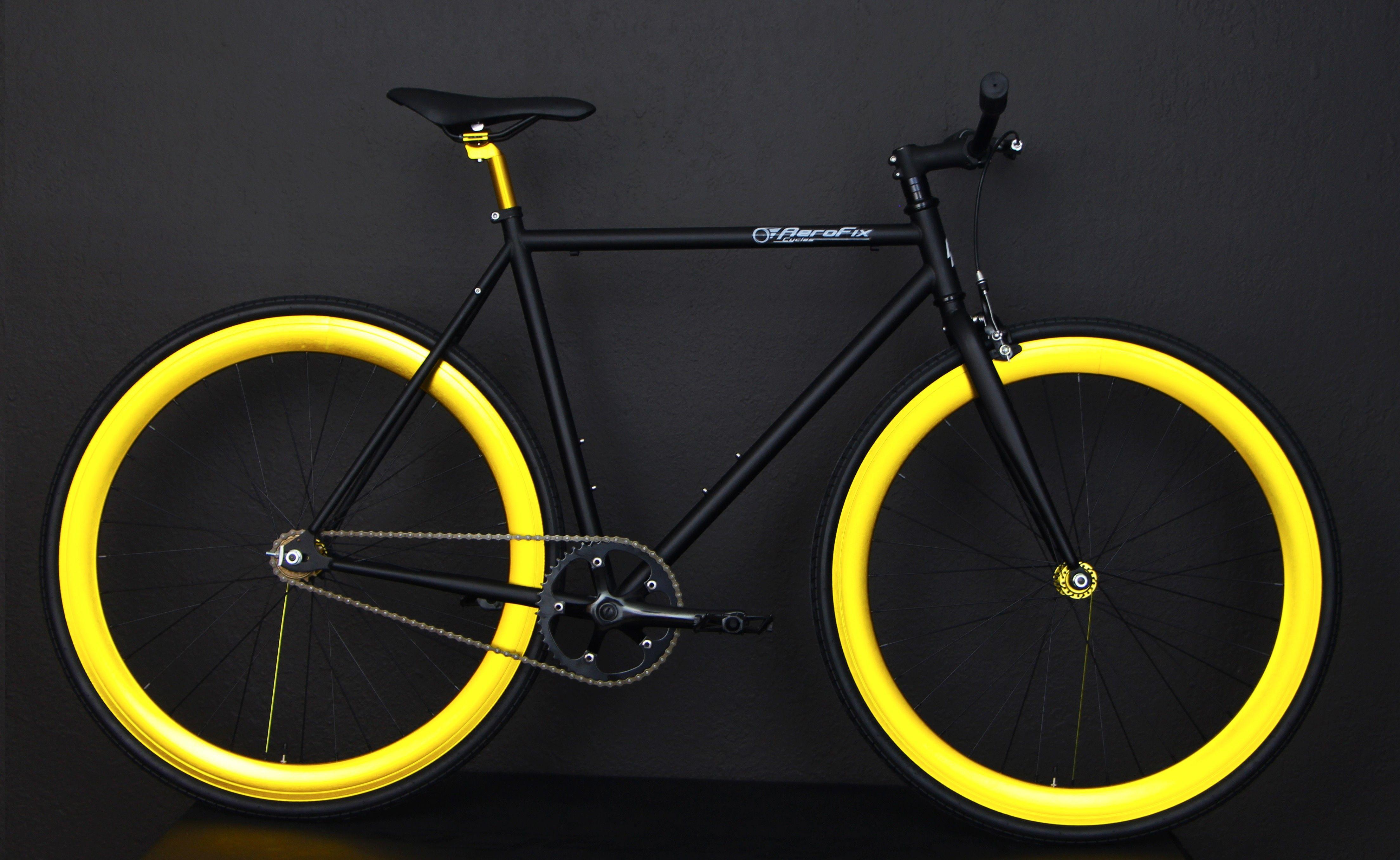 Black and Anodized Gold Fixie, Fixies, Fixie Bikes ...