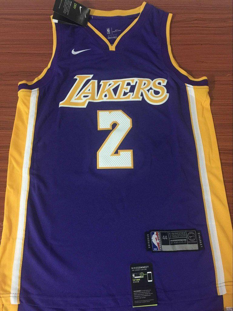 5b8eac12de4 Men 2 Lonzo Ball Jersey Purple Los Angeles Lakers Jersey Swingman Fanatics