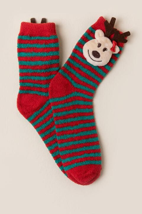 prancer reindeer light up socks