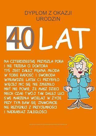 Pin By Maria Pakula On Zyczenia Humor 40th School Printables
