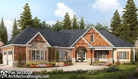 Designer Mountain Lodge - 36030DK | Craftsman, Mountain, Luxury, Photo Gallery, 1st Floor Master Suite, Butler Walk-in Pantry, CAD Available, Den-Office-Library-Study, Jack & Jill Bath, Media-Game-Home Theater, PDF, Split Bedrooms, Corner Lot, Sloping Lot | Architectural Designs