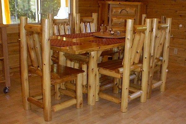 Superior Cedar Rectangular Dining Table Set