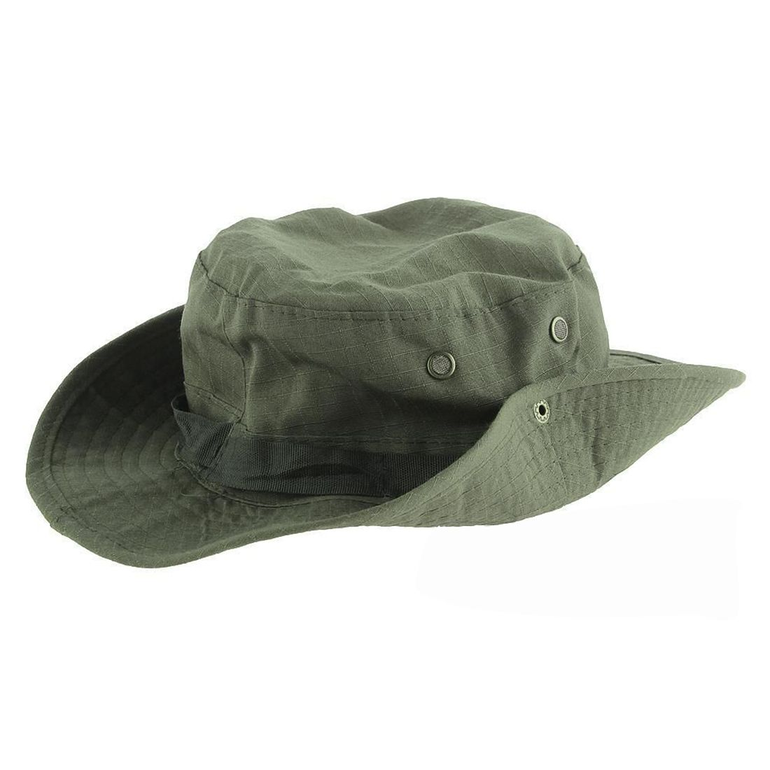 e4624dcc362 Wide Brim Bucket Hat Fishing Camping Sunshade Hat Army Green Traveling  Hiking Bonnie Hat With Adjustable Straps Mens Sports Caps