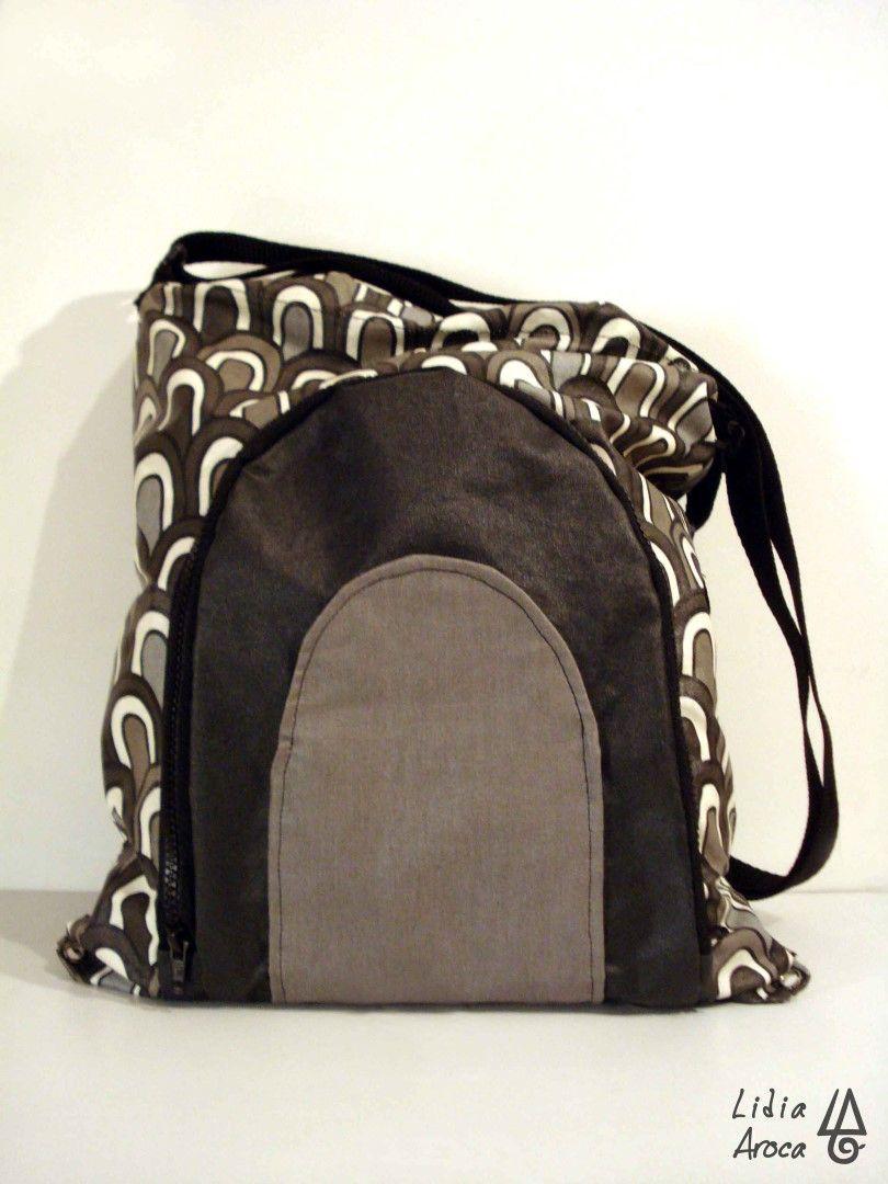 de Bags cuerdas bolsillos convertida en Mochila bolso con pdWqfpgx