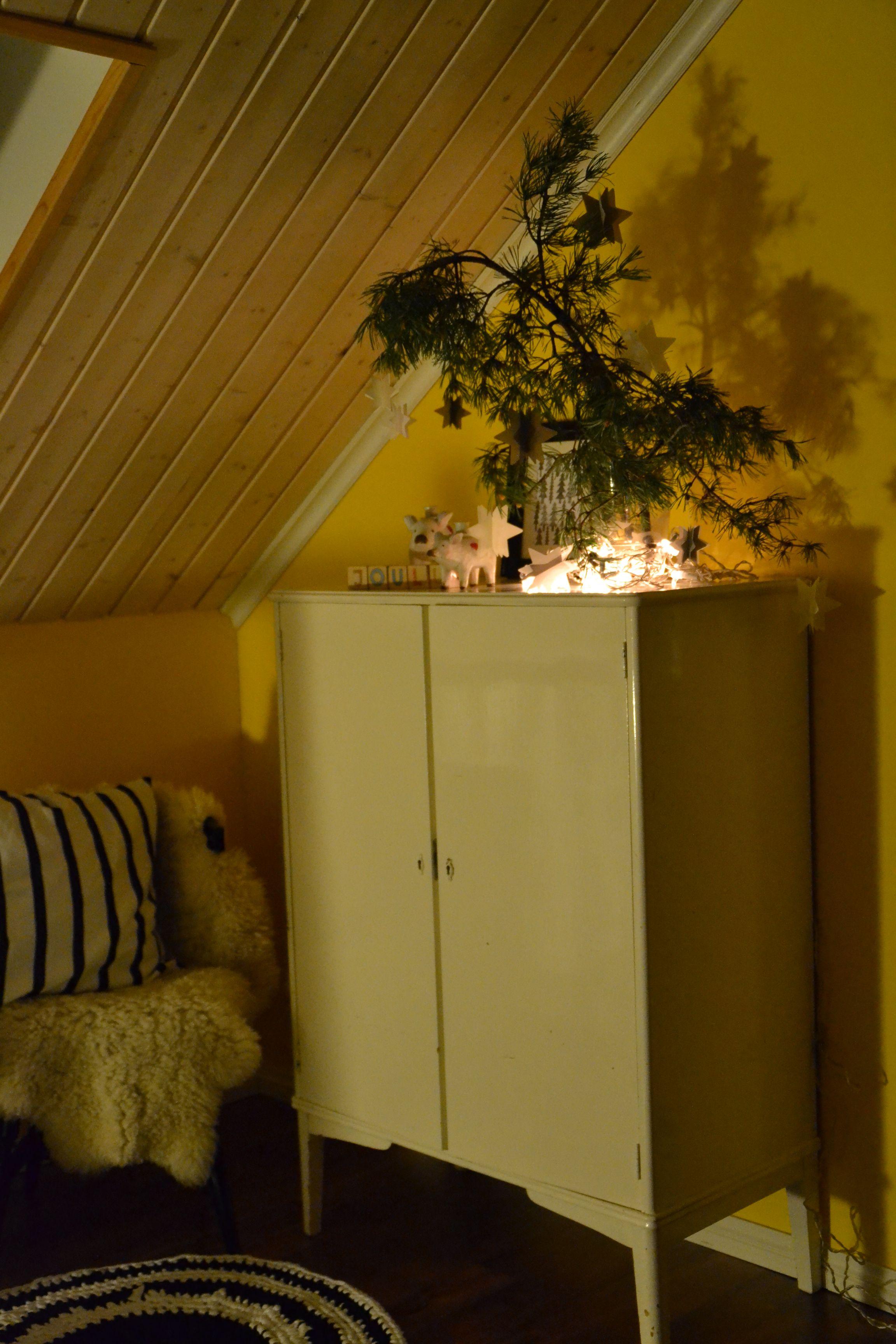 jouluvaloja ja tunnelmaa yläkerrassa