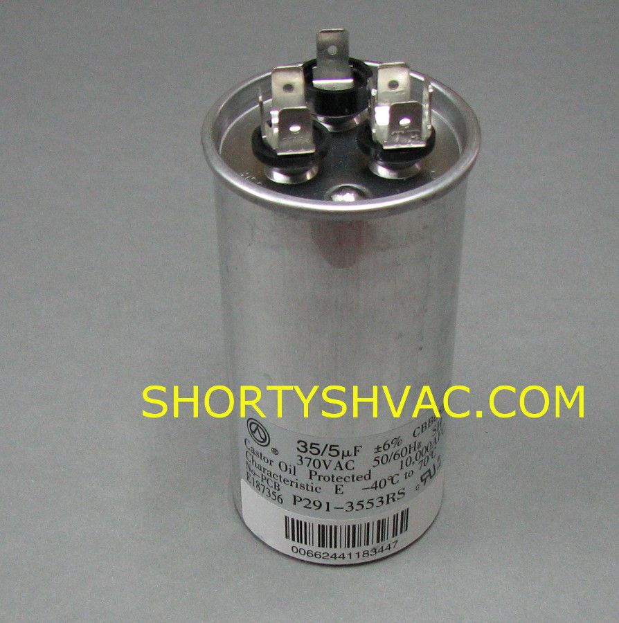 Carrier Dual Capacitor P291 3553rs Shortys Hvac Supplies Hvac Supply Hvac Capacitors