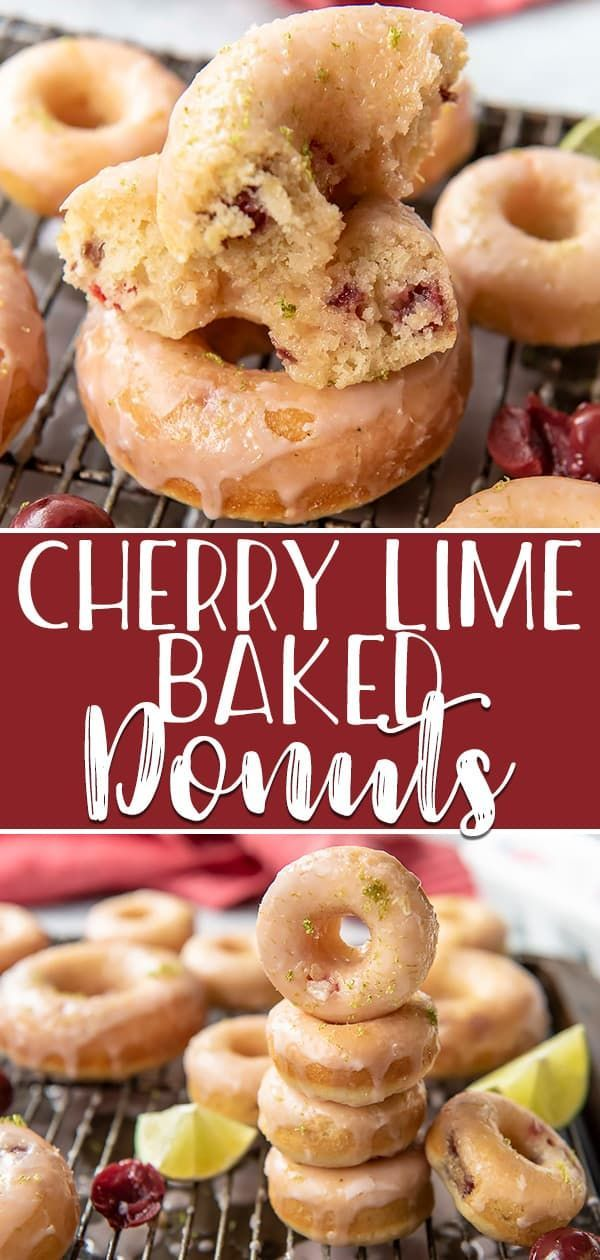 VIDEO! Hot, fresh breakfast treats are possible with these super simpleCherry Lime Baked Donuts - they're ready to eat in about 30 minutes! Skip the deep fryer and opt for the oven for these cherry-vanilla flavored cake donuts, then cover them in an irresistibly sweet-tart cherry lime glaze.