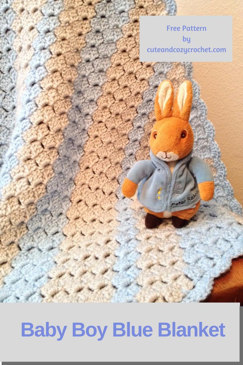 Baby Boy Blue Blanket | Häkeln