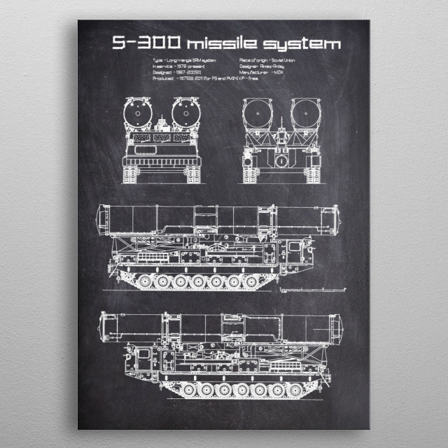 S300 missile system by FARKI15 DESIGN | metal posters - Displate | Displate thumbnail