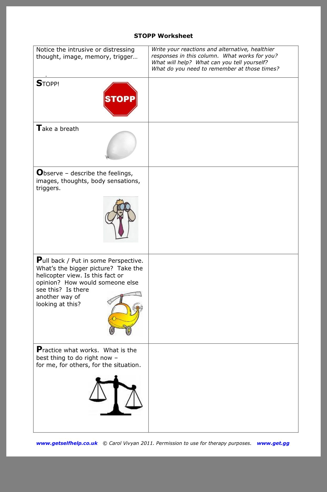Pin By Kirsten Wertz On Counseling Helps Worksheets