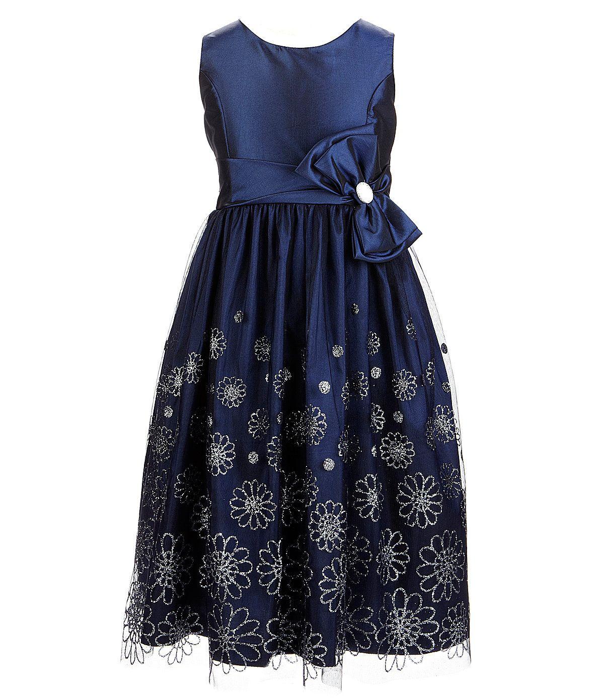 Jayne Copeland 7-12 Velvet Bolero & Flower-Accented Dress Set | Dillards.com