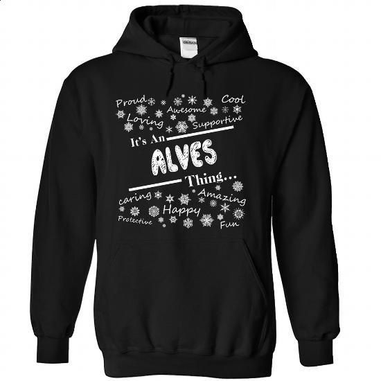 ALVES-the-awesome - #floral shirt #loose tee. GET YOURS => https://www.sunfrog.com/LifeStyle/ALVES-the-awesome-Black-71456085-Hoodie.html?68278