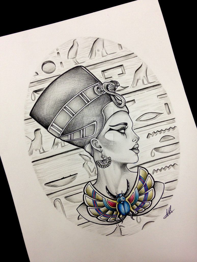 queen nefertiti tattoo design inspiration tatus pinterest tatuajes egipto y ideas de tatuajes. Black Bedroom Furniture Sets. Home Design Ideas