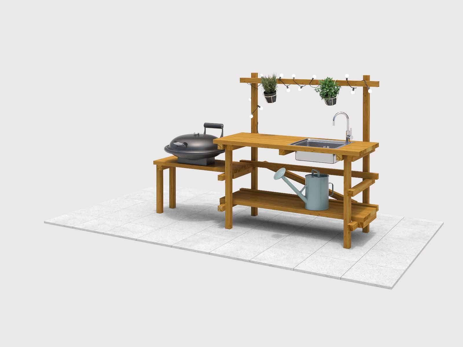 Außenküche Selber Bauen Obi : Outdoorküche alfons selber bauen gartenmöbel balkon