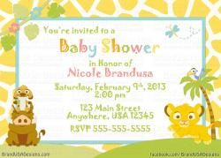 Lion King Custom Baby Shower Invitation