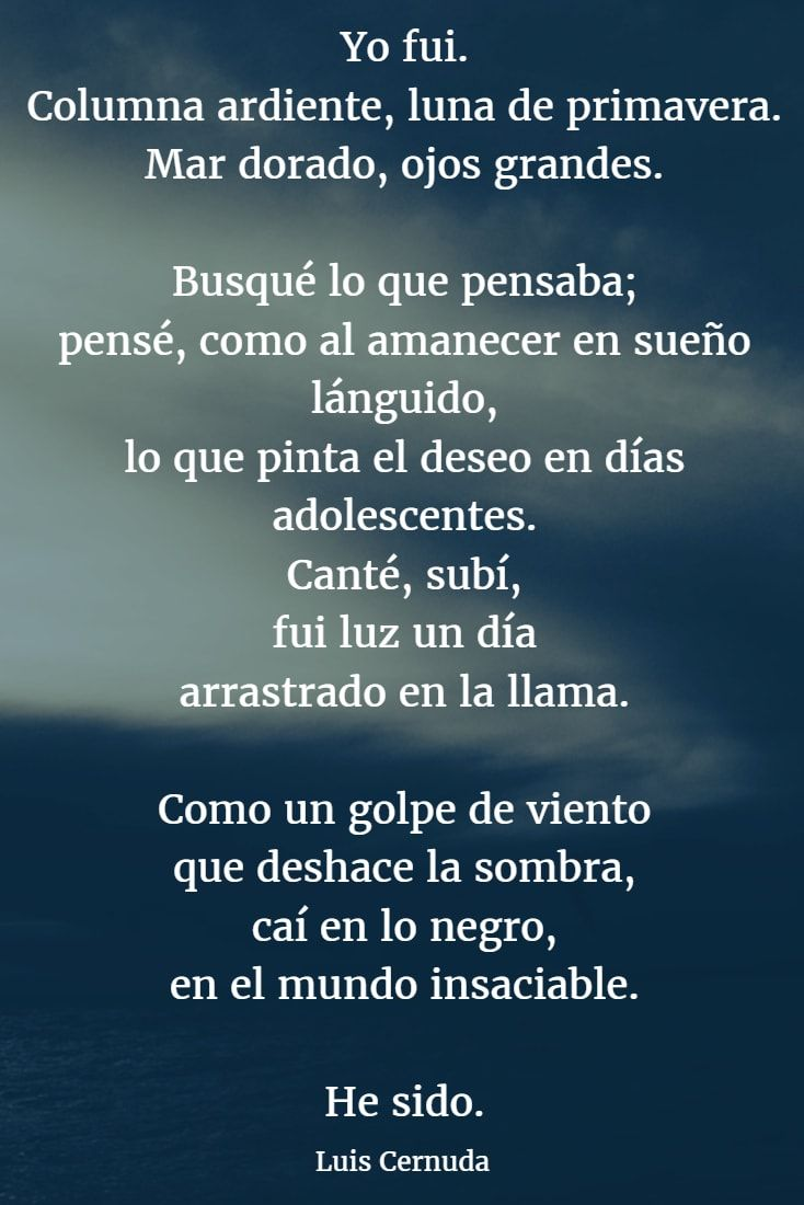 Poemas De Luis Cernuda 7 Cernuda Poesía Romántica Y Poemas