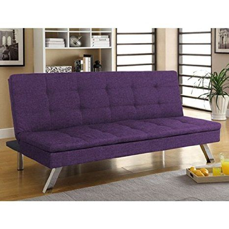 Primo International Dj Jive Klik Klak Convertible Sofa Bed Purple Tweed Futon Living Room Convertible Sofa Bed Futon Sofa
