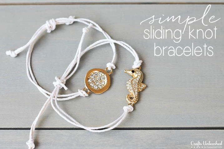 Sliding Knot Bracelet Diy Crafts Unleashed Knot Bracelet Diy