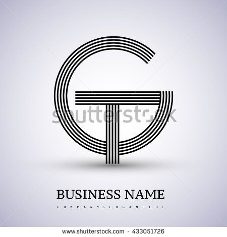 Letter Gt Or Tg Linked Logo Design Circle G Shape Elegant