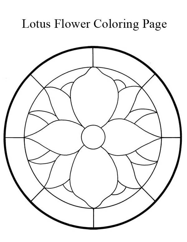 Flower Abstract Coloring Pages : Lotus flower mandala coloring page: