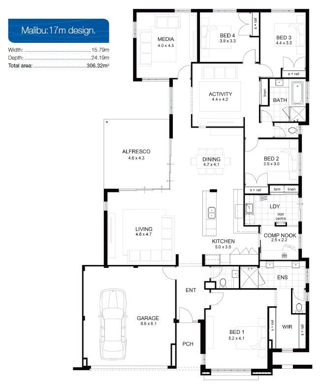amazing custom dream house floor plans. The Malibu by apg Homes is a stunning single storey display home located in  Burns Beach This beautiful design has high ceilings an abundance of natural Single designs APG Custom Home Floor Plans