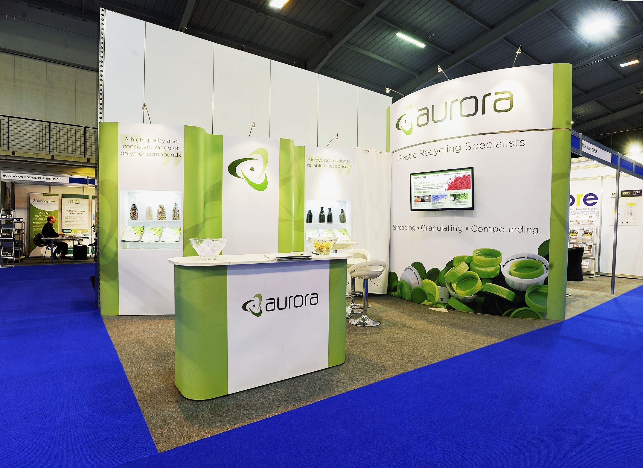 Sungard Exhibition Stand Out : Prestige exhibition stand for aurora manufacturing at pre