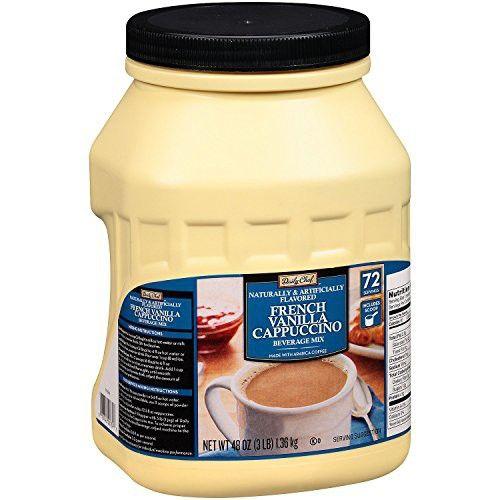 Daily Chef French Vanilla Cappuccino Beverage Mix 48 Oz Pack Of 6 French Vanilla Cappuccino French Vanilla Cappuccino