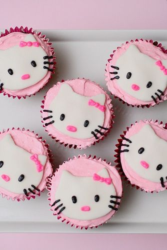 Abbi requested hello kitty cupcakes for her birthday- I think I will try to trace the hello kitty face with white chocolate instead of fondont because it would taste so much better :)